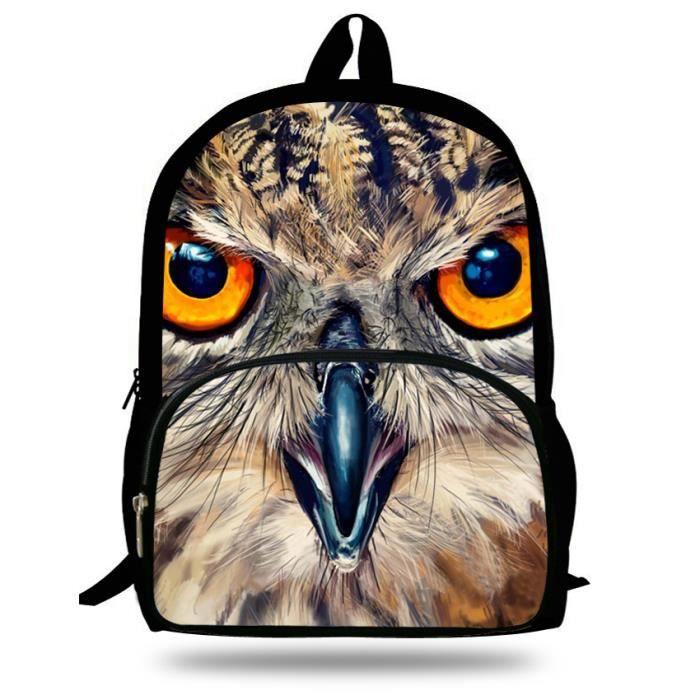 sacs Print de Vente Achat dos dos Noir Animal hibou à sac sac à tdqwtpS