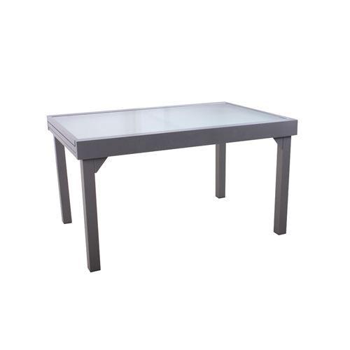 Table de jardin extensible Chaweng - Alu - Gris - Achat / Vente ...