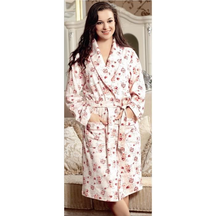 Robe de chambre coton femme affordable peignoir bleu marine igloo with robe de chambre coton - Robe de chambre femme ete ...