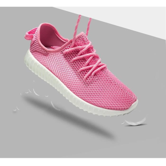 Fille Sneakers Sport Baskets Course Chaussons Chaussures Maille Lacet bS7R0AJj4