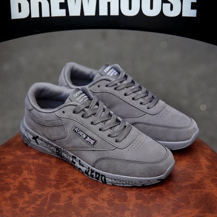 Confortable Chaussures de course Rétro Espadrilles en cuir véritable homme de sport Chaussures de sport Chaussures de marche dNgcLeMWE4
