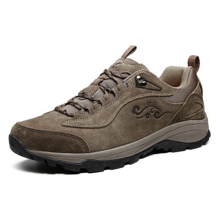 Xiang Guan homme Suède Imperméable Outdoor Sport Chaussures de Randonnée Trekking Trail Marche Shoes