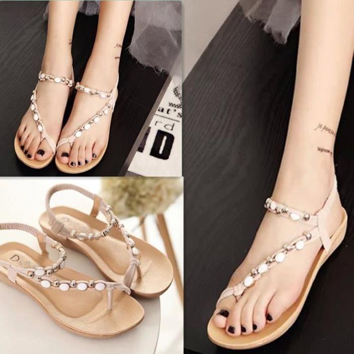 Sandales Plates Pas Cher Confortable Style De B... CE9z53ELi