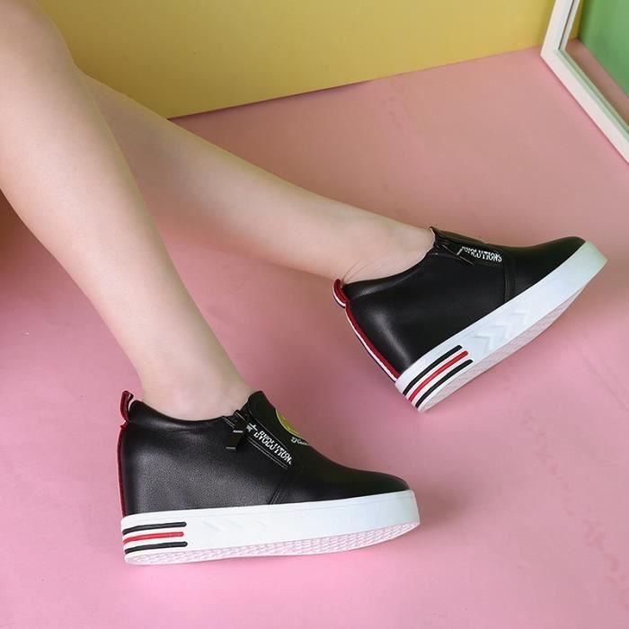 Hauteur intérieure des femmes & # 39; s chaussures printemps et automne nouvelle chaussure de sport blanc chaussure de sport
