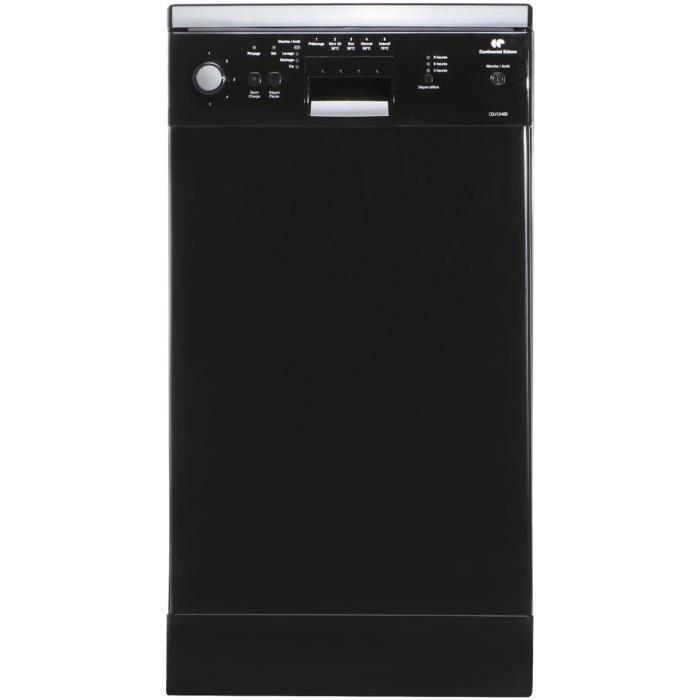Lave-vaisselle pose libre 45cm - 10 couverts - Classe énergétique A+ - Ecran LED - Départ différé - NoirLAVE-VAISSELLE