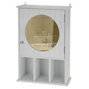 armoire pharmacie avec miroir achat vente pas cher cdiscount. Black Bedroom Furniture Sets. Home Design Ideas