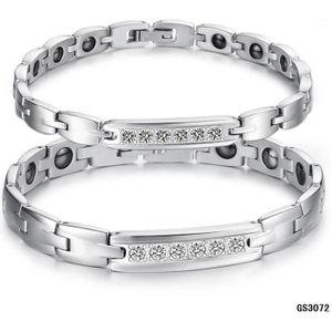 BRACELET - GOURMETTE Bracelet magnétique Titane Puissance Femmes acier