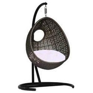 fauteuil suspendu bean swing chocolat coussins achat vente fauteuil jardin fauteuil. Black Bedroom Furniture Sets. Home Design Ideas