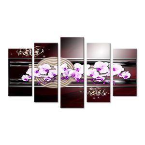 TABLEAU - TOILE Tableau deco zen design orchidée DECLINA 150x80 Ve