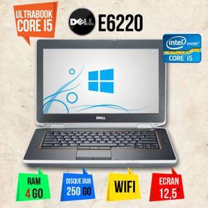 ORDINATEUR PORTABLE PC PORTABLE ULTRABOOK DELL E6220 CORE I5 2go 250go