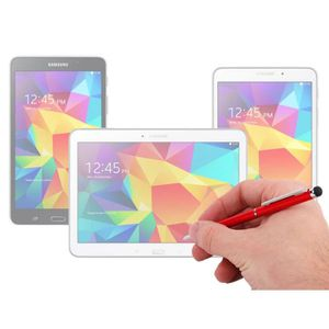 STYLET - GANT TABLETTE  Stylet/stylo 2 en 1 rouge pour Samsung Galaxy Tab