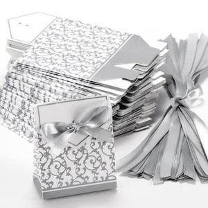 BOÎTE À DRAGÉES  Lot de 100 Boîte à dragées pour mariage avec ruba