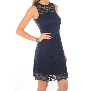 d269ba30307 Robe patineuse dentelle Roka -MORGAN Bleu Femme Bleu Bleu - Achat ...