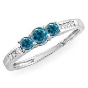 BAGUE - ANNEAU Bague Femme Diamants 0.35 ct  18 ct 750-1000 Or Bl