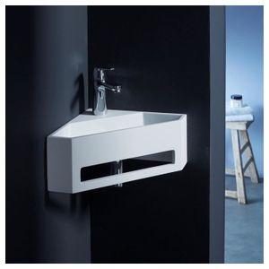 LAVABO - VASQUE Lave mains d'angle scala pour wc en solid surface