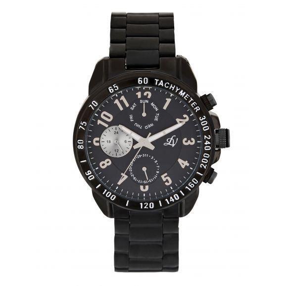 LOUIS VILLIERS Montre Homme Quartz - Bracelet Acier Noir LV1099