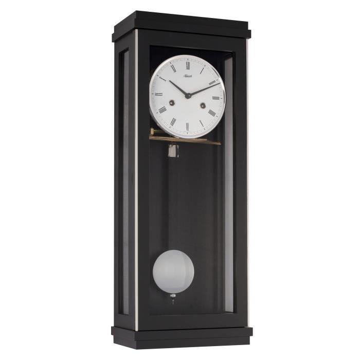 pendule murale m canique en bois d 39 rable sonnerie balancier bois noir cm 22 50 cm. Black Bedroom Furniture Sets. Home Design Ideas