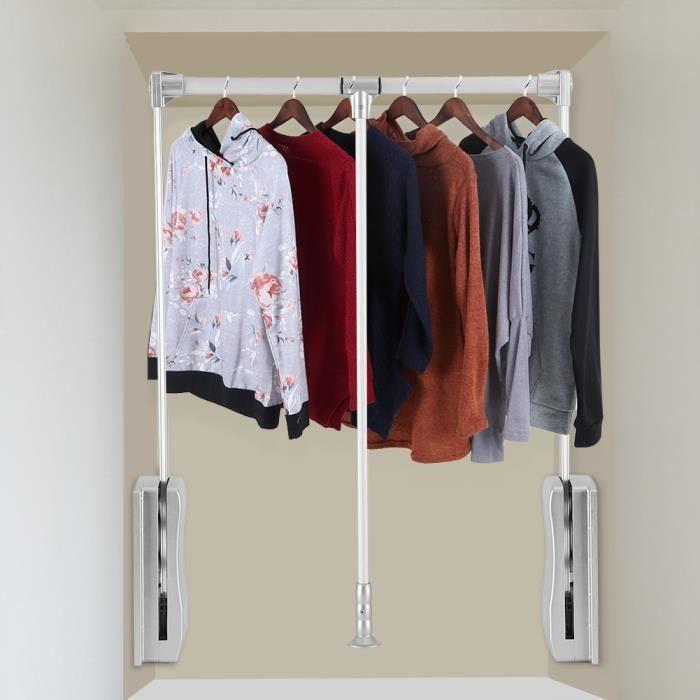 armoire v tements suspendus rail ascenseur tirer porte manteau tendoir linge garde robe. Black Bedroom Furniture Sets. Home Design Ideas