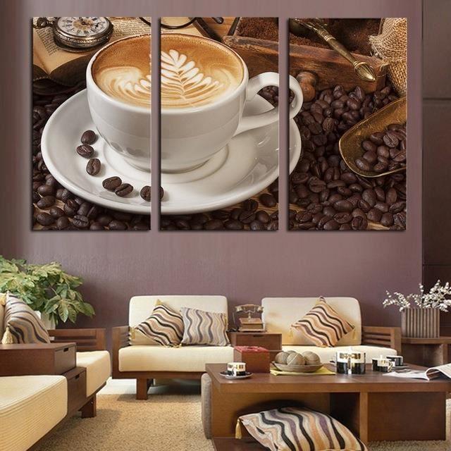 Café turc image vintage salon duvar tablolar panneau toile art ...