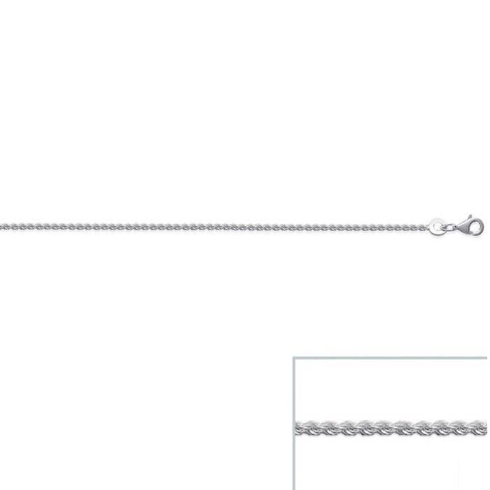 Chaine argent Torsadée maille CORDE largeur 1,4mm (50 cm)