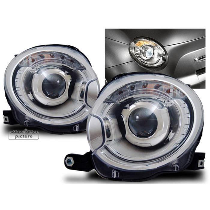 projecteurs fiat 500 achat vente phares optiques projecteurs fiat 500 cdiscount. Black Bedroom Furniture Sets. Home Design Ideas