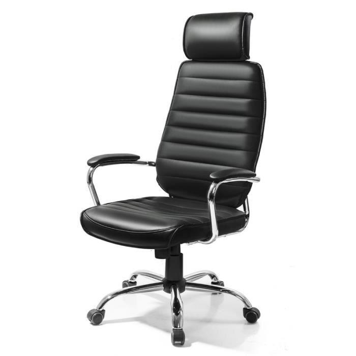 fonte noir fauteuil chaise siege de bureau design moderne et confortable achat vente chaise. Black Bedroom Furniture Sets. Home Design Ideas