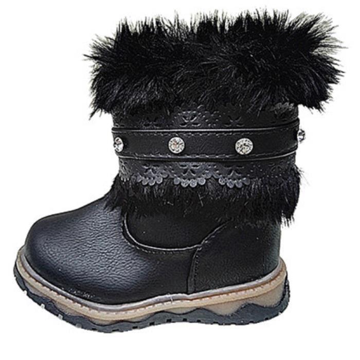 hiver bottine bottes Filles strasse zip fourrée fourrure mw8vnPyO0N