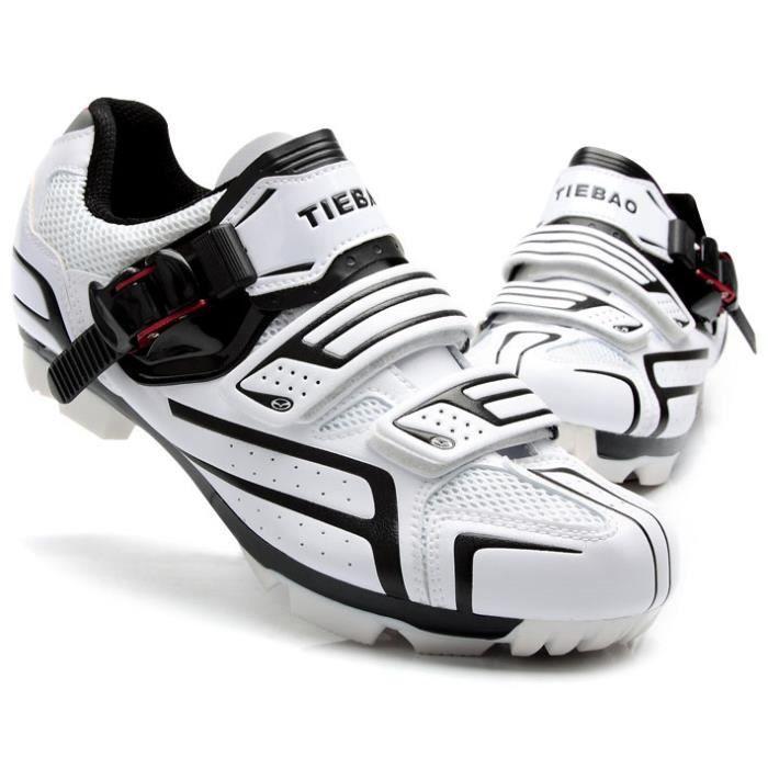 Cyclisme Vélo Vtt Noir De Chaussures Blanc Verrouillage Pour UzMGVpqSL
