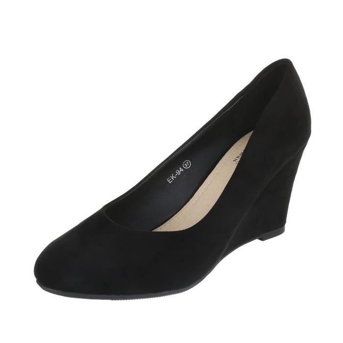 Chaussures femme escarpin semelle compenséenoir 41