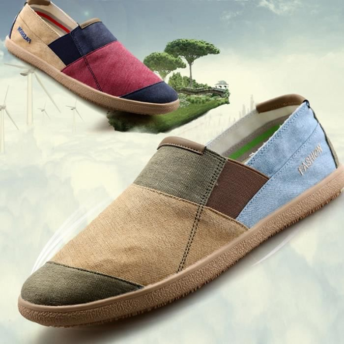 chaussures multisport Homme de sport en plein air de marche tendance PLATS conduite pour hommes rouge taille7 B3weOM8Aml