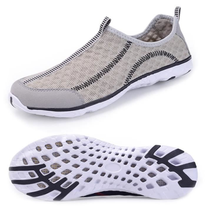 Water Shoes Mens Quick Drying Aqua Shoes Beach Pool Shoes Mesh Slip On NXRA1 Taille-43