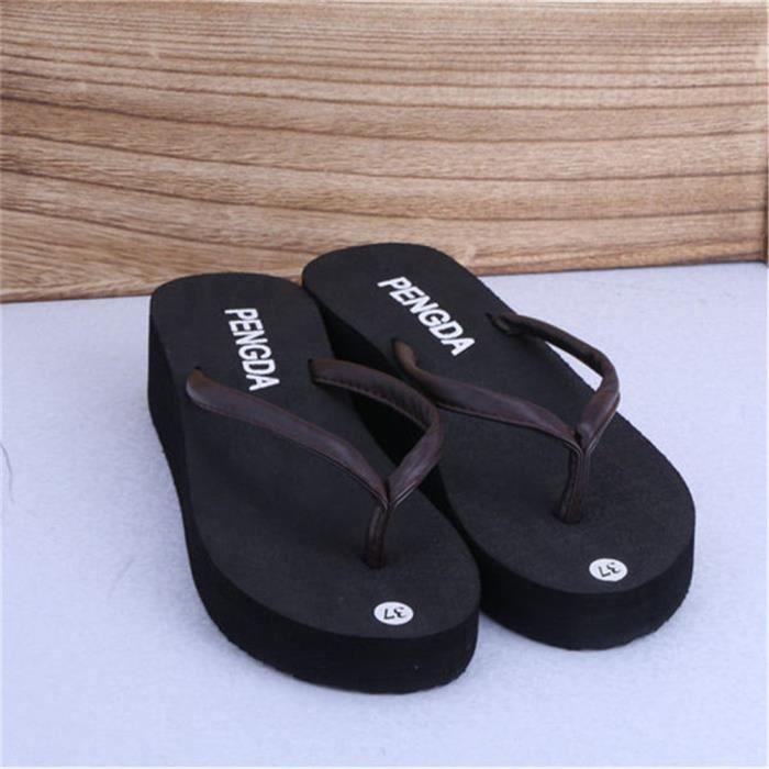 Tongs Femmes Nouvelle Mode Pantoufle Plage Printemps Et éTé Platform Thong Sandals Cool Sandales Pour La Plage Plus De Couleur
