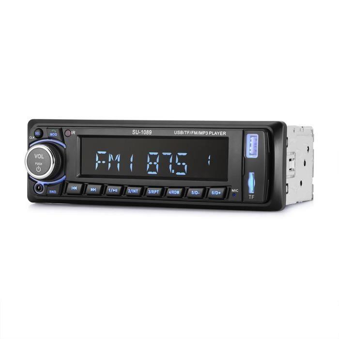 Autoradio Audio stéréo de voiture de Bluetooth Lecteur MP3 Radio Support USB / TF / AUX / FM avec télécommande sans fil