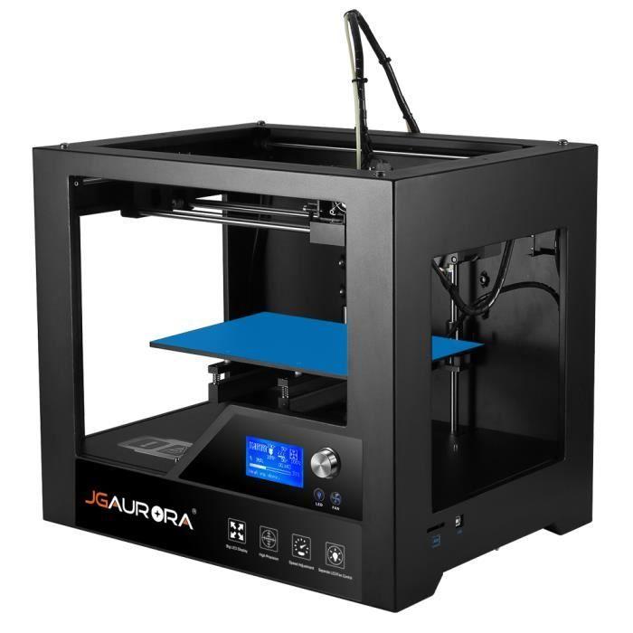 c90ba5b4811bb JGAURORA Z - 603S Imprimante 3D de Bureau Haute Précision Métal Cadre 280 x  180 x 180mm soutien Ajuste Temp et Vitesse Noir