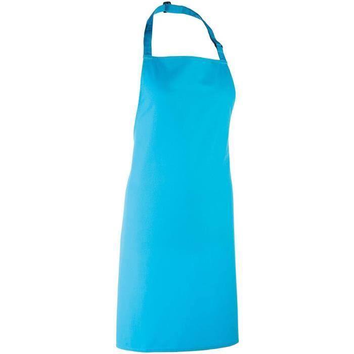 Tablier à Bavette   PR150   Bleu Turquoise