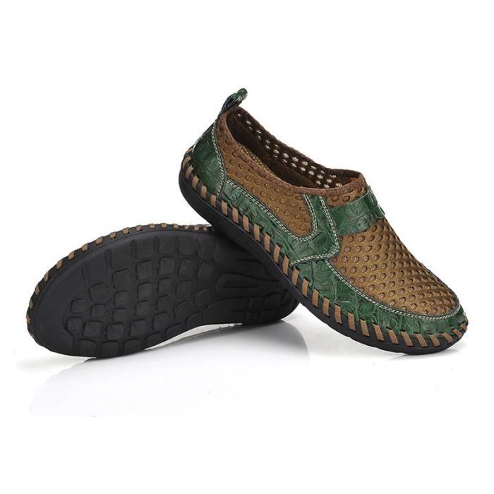 Chaussure Homme Printemps Été Comfortable Respirant Slip On Chaussures BTYS-XZ070Vert40 8Z9i8V