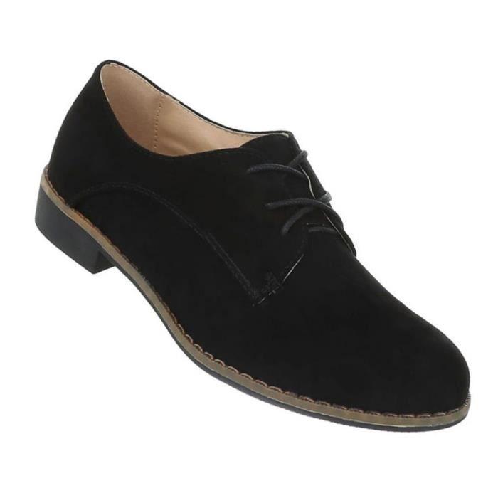 Noir Laçage blanc Chaussures 41 Noir Basse Femmes Chaussure gqO76fBwxY