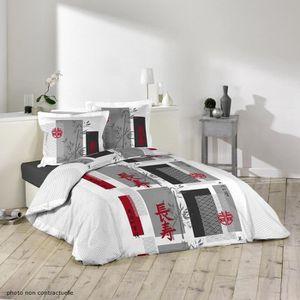 parure de lit asiatique achat vente parure de lit asiatique pas cher cdiscount. Black Bedroom Furniture Sets. Home Design Ideas