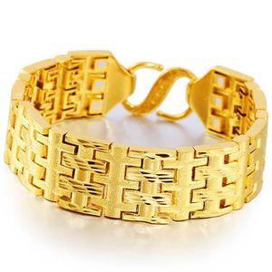 BRACELET - GOURMETTE bande de type lourd hommes bracelets 18k or jaune