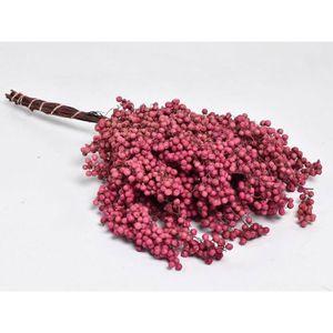 FLEUR ARTIFICIELLE Bouquet de poivre rose sec sur tige