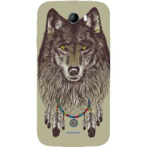 COQUE - BUMPER COQUE PROTECTION TELEPHONE WIKO BARRY - LOUP PLUME