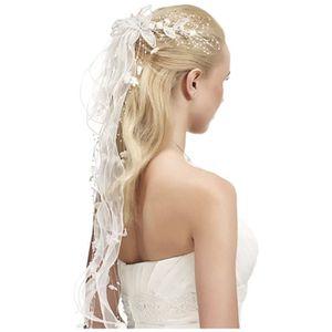 accessoire cheveux mariage avec perles et fleur achat vente barrette chouchou accessoire. Black Bedroom Furniture Sets. Home Design Ideas