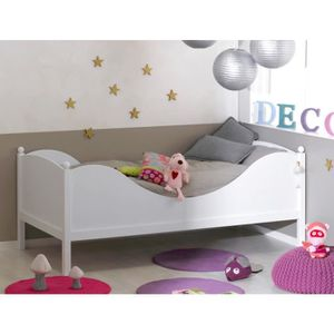 STRUCTURE DE LIT Lit enfant color blanc 90x190