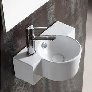 LAVE-MAIN Lave main asymétrique 40x28cm  Céramique, Pool