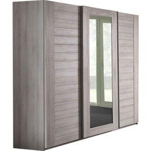 miroir chene gris achat vente pas cher. Black Bedroom Furniture Sets. Home Design Ideas