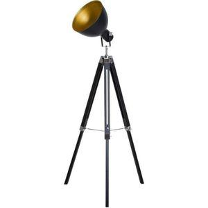 LAMPADAIRE Lampadaire trépied style industriel hauteur réglab