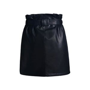 ab058bbd1fa4c Mini jupe en cuir avec ceinture Noir - Achat / Vente jupe - Cdiscount