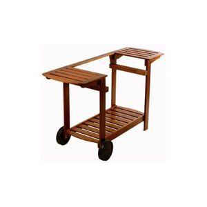 DESSERTE DE JARDIN Chariot bois pour plancha SIMOGAS 60 et 75cm