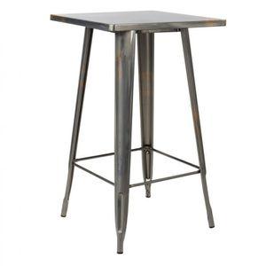 MANGE-DEBOUT Table haute LIX Brossée  Acier