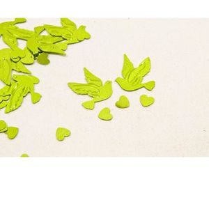 Décors de table Confetti colombe et coeur vert (x10gr) REF/DEC398